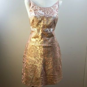 Pink Backless Party Prom Dress Sexy Size 10